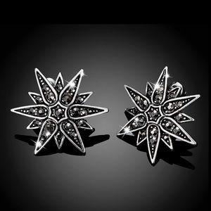 2/$20! Antiqued Silver Marcasite Stud Earrings